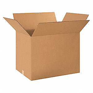"Shipping Carton, Kraft, Inside Width 18"", Inside Length 24"", Inside Depth 18"", 95 lb., 1 EA"
