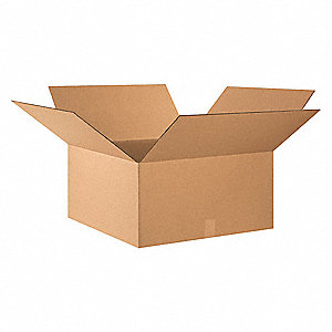 "Shipping Carton, Kraft, Inside Width 26"", Inside Length 26"", Inside Depth 14"", 65 lb., 10 PK"