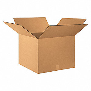 "Shipping Carton, Kraft, Inside Width 24"", Inside Length 24"", Inside Depth 18"", 100 lb., 1 EA"