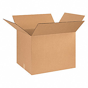 "Shipping Carton, Kraft, Inside Width 20"", Inside Length 26"", Inside Depth 20"", 100 lb., 1 EA"