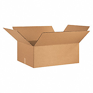 "Shipping Carton, Kraft, Inside Width 24"", Inside Length 30"", Inside Depth 12"", 100 lb., 1 EA"