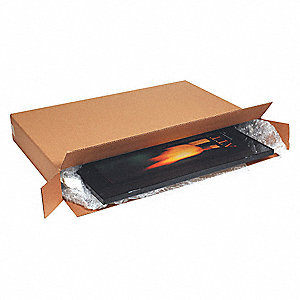 "Shipping Carton, Kraft, Inside Width 8"", Inside Length 54"", Inside Depth 28"", 95 lb., 1 EA"
