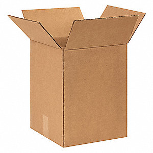 "Shipping Carton, Kraft, Inside Width 11-1/2"", Inside Length 11-1/2"", Inside Depth 15-3/8"", 100 lb."