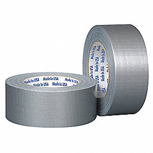 48mm x 55m Duct Tape, Silver, Package Quantity 24
