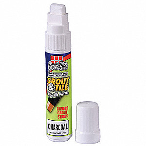 Grout Marker, Charcoal, Large Chisel Tip, -50°F to 150°F, 1 EA