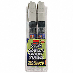 Grout Marker, Buff, Medium Bullet Tip, -50°F to 150°F, 2 PK