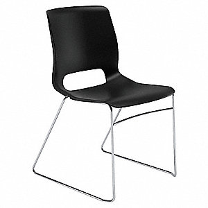 Stacking Chair,Onyx,17-3/4 In. H,PK4