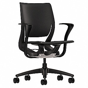 "Onyx Plastic Desk Chair 19-1/4"" Back Height, Arm Style: Fixed"