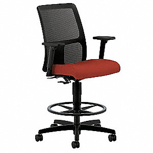 "Task Chair,Fabric,Poppy,24-33"" Seat Ht"