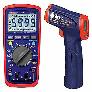 Digital Electrical Multimeter and Infrared Thermometer