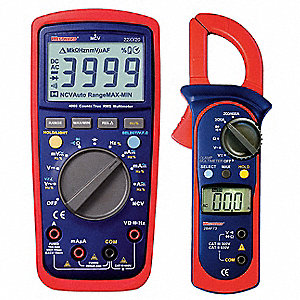 Digital Electrical Multimeter and Clamp On Ammeter
