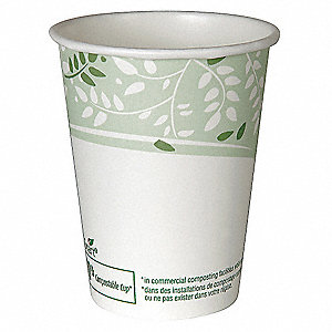 8 oz. Paper Disposable Hot Cup, White, 1000 PK