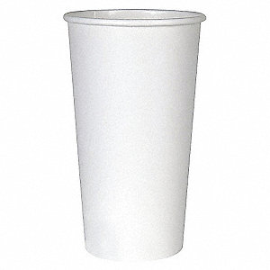 16 oz. Paper Disposable Hot Cup, White, 1000 PK
