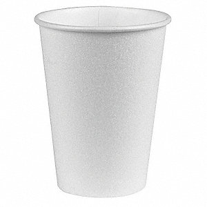 10 oz. Disposable Hot Cup, Paper, White, PK 1000
