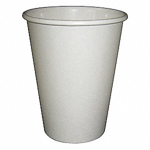 12 oz. Disposable Hot Cup, Paper, White, PK 1000