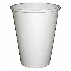 16 oz. Disposable Hot Cup, Paper, White, PK 1000