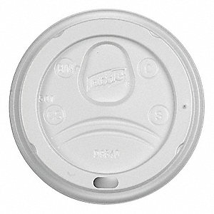 Hot Cup Lid,Type Dome,10 fl. oz.,PK1000