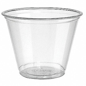 9 oz. Plastic Disposable Cold Cup, Clear, 1000 PK