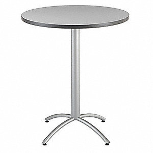 "Round Bistro Table, Gray, Height: 42"", Dia.: 36"""
