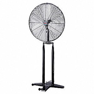"24"" Commercial Pedestal-Mounted Foldable Air Circulator"
