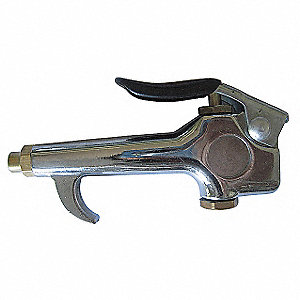 Chrome Plated Zinc Thumb Lever Air Gun; Max. Inlet Pressure: 150 psi