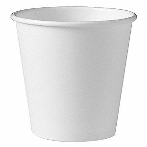 10 oz. Paper Disposable Hot Cup, White, 1000 PK