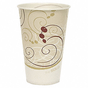 12 oz. Disposable Cold Cup, Waxed Paper, White, PK 2000