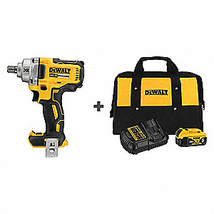 1 2 Cordless Impact >> 1 2 Cordless Impact Wrench Kit 20 0 Voltage 330 Ft Lb Max Torque Battery Included