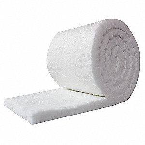 "2"" Thick Ceramic Fiber Insulation, 12-1/2 ft. x 48"", 8 cu. ft./lb. Insulation Density"