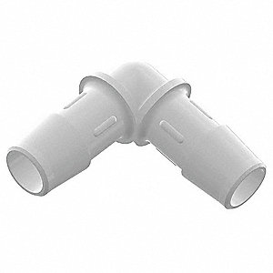 "Barbed Elbow, 90°, Polypropylene, 1/4"" Barb Size, Natural"