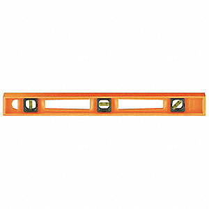 "Nonmagnetic, Structo-Cast® Plastic I-Beam Level, 24"" Length, Top Read: No"