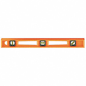 "Nonmagnetic, Structo-Cast® Plastic I-Beam Level, 48"" Length, Top Read: No"