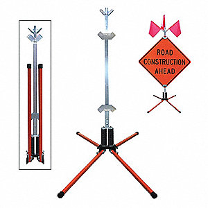 SIGN STAND,RIGID,STEEL,36 IN.