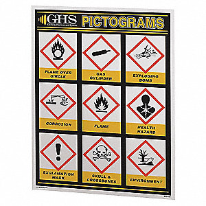 GHS SIMPLIFIED PICTOGRAM CHART(24X3