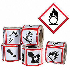 Pictogram Label,Flame Circle,PK500