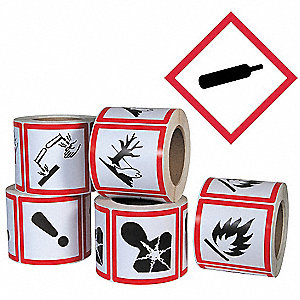 Pictogram Label,Gas Cylinder,PK500