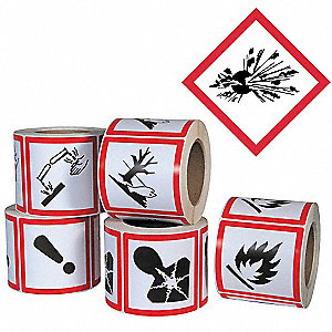 Pictogram Label,Exploding Bomb,PK500
