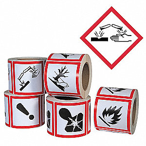 Pictogram Label,Corrosive,PK500