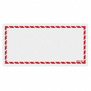 Workplace Laser Label,Red,Paper,4 In. L