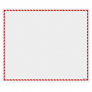 "Red Workplace Laser Label, Pressure Sensitive Label Type, 6"" Width"