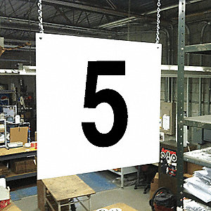 Hanging Aisle Sign, 5, 1 EA