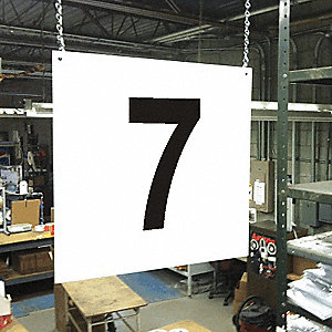 Hanging Aisle Sign, 7, 1 EA