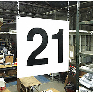 Hanging Aisle Sign, 1 EA