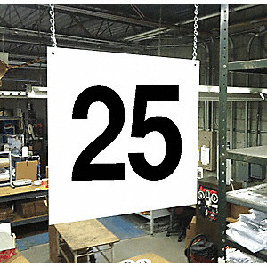 Hanging Aisle Sign, 25, 1 EA