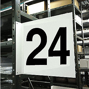 "Numbers, No Header, Plastic, 12"" x 12"", Hanging, Not Retroreflective"