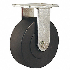 "8"" Heavy-Duty Rigid Plate Caster, 3000 lb. Load Rating"