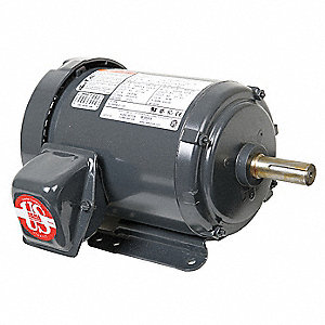 2 HP General Purpose Motor,3-Phase,1800 Nameplate RPM,Voltage 208-230/460,Frame 145T