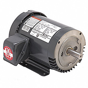 2 HP General Purpose Motor,3-Phase,1800 Nameplate RPM,Voltage 208-230/460,Frame 145TC