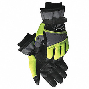Cold Protection Gloves,2XL,HiVisLime,Pr