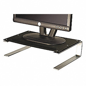 Monitor Stand,Black/Gray/Silver,Steel